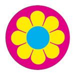 kinder button met bloemetje | KleineButtons.nl