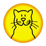 kinder button met vrolijke kat | KleineButtons.nl