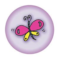kinder button met vlinder | KleineButtons.nl